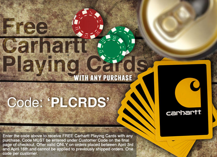 Free Carhartt Playing Cards from Dungarees.net