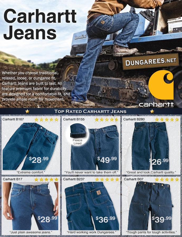 95da8b25eda Top-Rated Carhartt Jeans   Dungarees.net's Carhartt Clothing